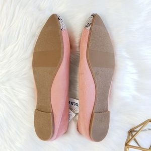 Old Navy Shoes - Old Navy Coral Pink Snakeskin Flats